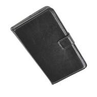 HTC One Mini - Wallet Bookstyle Case Lederlook Zwart