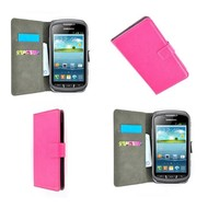 Samsung Galaxy Xcover 2 - Wallet Bookstyle Case Lederlook Roze