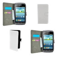 Samsung Galaxy Xcover 2 - Wallet Bookstyle Case Lederlook Wit