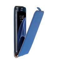 Samsung Galaxy S7 - Pearlycase Leder Flipcase Hoesje Blauw