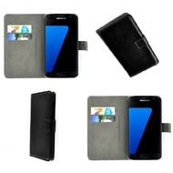 Samsung Galaxy S7 - Wallet Bookstyle Case Lederlook Zwart