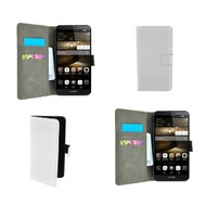 Huawei P9 Lite - Wallet Bookstyle Case Lederlook Wit