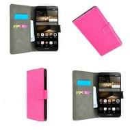 Huawei P9 Lite - Wallet Bookstyle Case Lederlook Roze