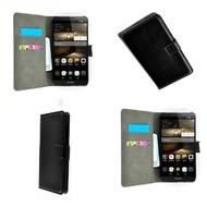 Huawei P9 Lite - Wallet Bookstyle Case Lederlook Zwart