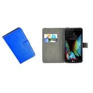 LG K10 - Wallet Bookstyle Case Lederlook Blauw