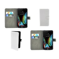 LG K10 - Wallet Bookstyle Case Lederlook Wit
