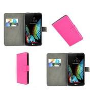 LG K10 - Wallet Bookstyle Case Lederlook Roze