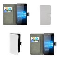 Microsoft Lumia 650 - Wallet Bookstyle Case Lederlook Wit