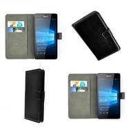 Microsoft Lumia 650 - Wallet Bookstyle Case Lederlook Zwart