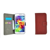 Samsung Galaxy S5 - Wallet Bookstyle Case Lederlook Bruin