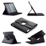 Apple iPad Mini 3 - Hoes 360° Draaibare Case Lederlook Zwart