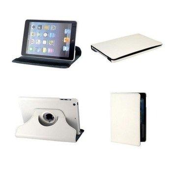 Apple iPad Mini 3 - Hoes 360° Draaibare Case Lederlook Wit