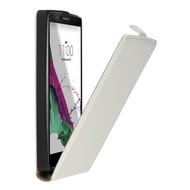 LG K10 - Flipcase Cover Smartphone Hoesje Leder Wit
