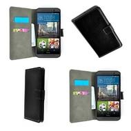 HTC One M9 - Wallet Bookstyle Smartphone Case Lederlook Zwart