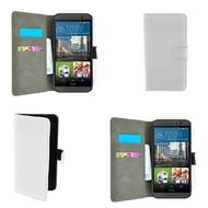 HTC One M9 - Wallet Bookstyle Smartphone Case Lederlook Wit