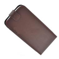 Apple Iphone 5 / 5S - Flip Case Cover Hoesje Y Leder Bruin