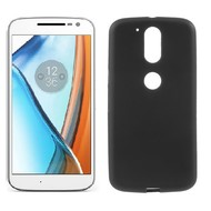Motorola Moto G4 - Tpu Siliconen Smartphone Case Hoesje Zwart