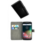 Motorola Moto G4 - Smartphone Hoesje Wallet Bookstyle Case Lederlook Zwart