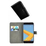 HTC 10 - Smartphone Hoesje Wallet Bookstyle Case Lederlook Zwart