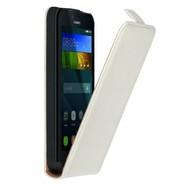 Huawei Y5 4g - Flipcase Cover Smartphone Hoesje Leder Wit