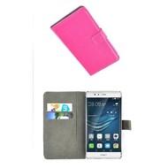 Huawei P9 - Wallet Bookstyle Case Lederlook Roze