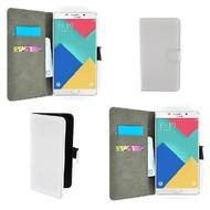 Samsung Galaxy A9 Pro - Smartphonehoesje Wallet Bookstyle Case Lederlook Wit