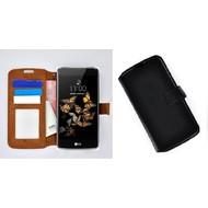 LG K8 - Smartphonehoesje Wallet Bookstyle Case Lederlook Zwart