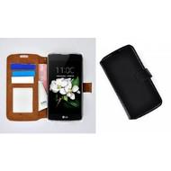 LG K7 - Smartphonehoesje Wallet Bookstyle Case Lederlook Zwart