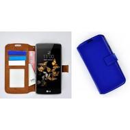 LG K5 - Smartphone Hoesje Wallet Bookstyle Case Lederlook Blauw