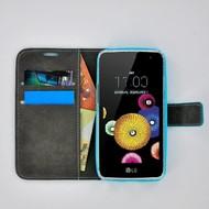 LG K4 - Smartphone Hoesje Wallet Bookstyle Case Lederlook Turquoise