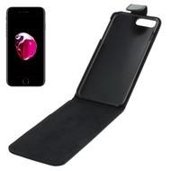 Zwart Pu Leder Flipcase Cover voor Apple iPhone 7 Plus