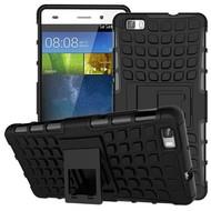 Huawei P9 Plus - Smartphone Hoesje Shockproof Case tweedelig met standfunctie zwart