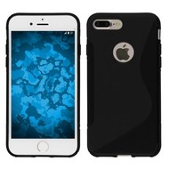 Apple iPhone 7 Plus - Smartphone Hoesje Tpu Siliconen Case S-Style Zwart