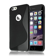 S-Style Zwart TPU Siliconen Case Hoesje iPhone 7