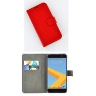 HTC 10 - Smartphone Hoesje Wallet Bookstyle Case Lederlook Rood
