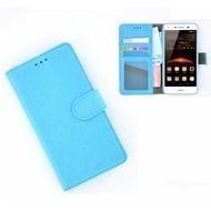 Huawei Y5-2 - Smartphonehoesje Wallet Bookstyle Case Lederlook Turquoise