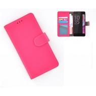 Sony Xperia E5 - Smartphonehoesje Wallet Bookstyle Case Lederlook Roze