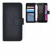 Sony Xperia E5 - Smartphonehoesje Wallet Bookstyle Case Lederlook Zwart