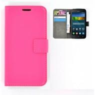 Huawei Y560 - Smartphonehoesje Wallet Bookstyle Case Lederlook Roze