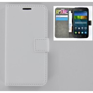 Huawei Y560 - Smartphonehoesje Wallet Bookstyle Case Lederlook Wit
