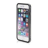Apple iPhone 7 - Smartphonehoesje Siliconen Bumper Case Transparant Zwart