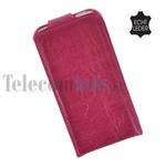 Apple iPhone SE - Smartphone Hoesje Flip Case Cover Echt Leder Bordeaux