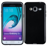 Samsung Galaxy J3 2016 - Tpu Siliconen Case Hoesje Zwart