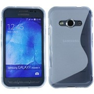 Samsung Galaxy Xcover 3 - Tpu Siliconen Case Hoesje S-Style Transparant