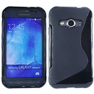 Samsung Galaxy Xcover 3 - Tpu Siliconen Case Hoesje S-Style Zwart