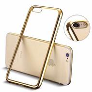 Apple iPhone 7 - Smartphone Hoesje Tpu Siliconen Case Transparant/Goud