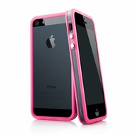 Apple Iphone SE - Smartphonehoesje Siliconen Bumper Case Transparant Roze