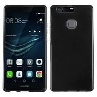 Huawei P9 Plus - Smartphone Hoesje Tpu Siliconen Case Zwart