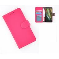 Motorola Moto E 3rd gen - Smartphonehoesje Wallet Bookstyle Case Lederlook Roze