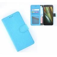 Motorola Moto E 3rd gen - Smartphonehoesje Wallet Bookstyle Case Lederlook Turquoise